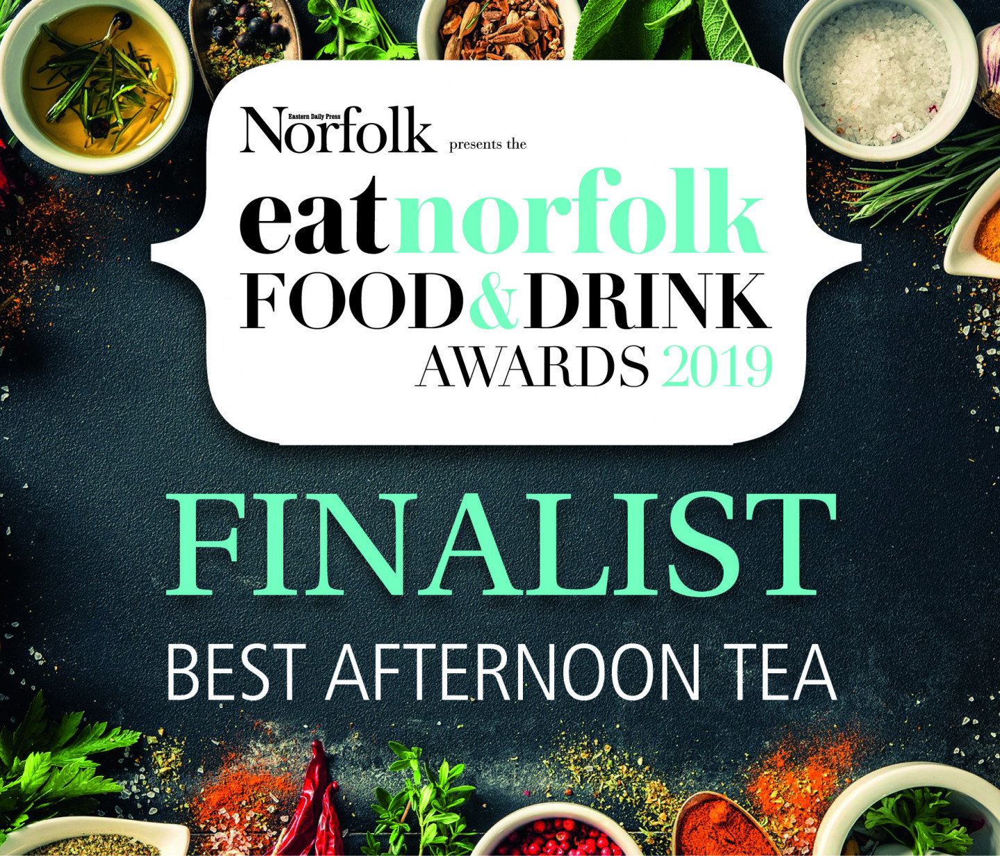 EAT Norfolk Food and Drink Awards Best Afternoon Tea Finalist