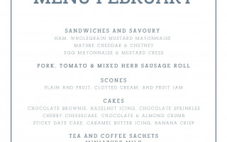 February Takeaway Afternoon Tea Menu