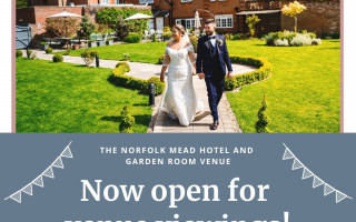 The Norfolk Mead Wedding Venue viewings. Photo credit Sam Gee Photography.