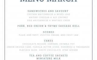 The Norfolk Mead March Afternoon Tea Takeaway Menu