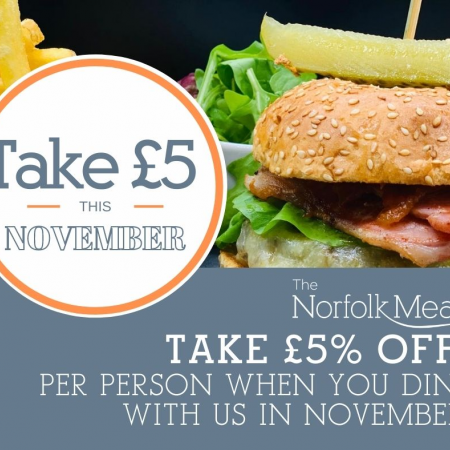 Take £5 this November at The Norfolk Mead