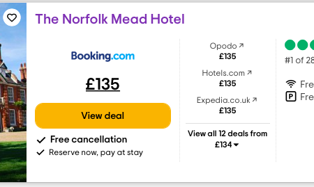 The Norfolk Mead is number one for Hotels in East Anglia on TripAdvisor